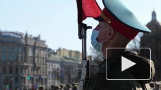 Первая репетиция парада Победы на Дворцовой площади. Видео