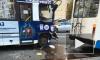Маршрутка протаранила троллейбус на Коломяжском: есть пострадавшие