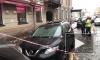 Петербургские коммунальщики сосулей разбили новенький паркетник