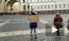 Экоактивисты провели одиночные пикеты Fridays For Future на Дворцовой