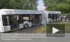 Гибрид автобуса и троллейбуса будет пугать петербуржцев на улицах города