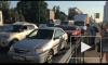 Из-за ремонта на Рябовском шоссе водители оставили машины и пошли домой пешком