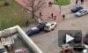 На Типанова легковушка вылетела на тротуар, снеся столб и пешехода