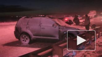 В Пушкинском районе столкнулись 52 машины. Подробности серьезного ДТП под Петербургом