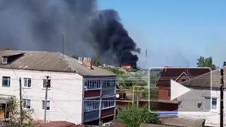 В Ульяновской области ликвидировали пожар на территории бывшего лесокомбината