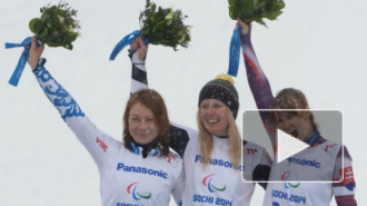 Паралимпиада 2014 в Сочи: горнолыжницы Францева и Медведева завоевали золотую и серебряную медали