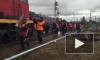 Появилось видео с места железнодорожной аварии в Пензенской области
