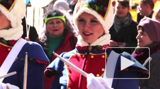 1 апреля клоуны с осликом весело хулиганили на Невском