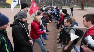 Трезвая русская пробежка закончилась кулачным боем