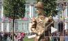 Живые статуи и банда граффитчиков открыли Конгресс ландшафтных архитекторов в Петербурге