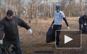 Выборгские активисты собрали мусор на Анненских укреплениях