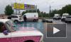 Видео: на Светлановском проспекте сбили мотоциклиста