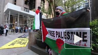 В Нью-Йорке прошли акции в поддержку Палестины