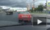 «Хромающая» Lada, удирающая с места аварии, попала на видео