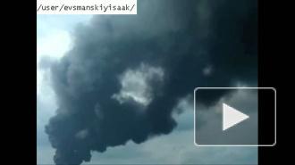 Третий пожар на полигоне в Красном бору