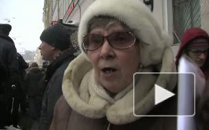 ГРАДОЗАЩИТНИКИ МИТИНГУЮТ У СНОСИМОГО ДОМА НА НЕВСКОМ, 68