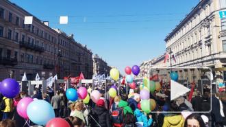 Центр Петербурга перед первомайским шествием перекрыли полицейские