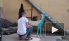 На Караванной улице появился арт-объект Леши Бурстона на тему экологии
