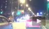 Видео из Петербурга: легковушка протаранила мотоцикл