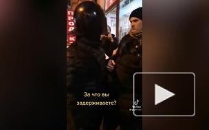 """В TikTok разошлось видео об """"обмене задержанными"""" на митинге в Петербурге"""