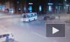 Момент лобового столкновения на площади Ленина попал на видео