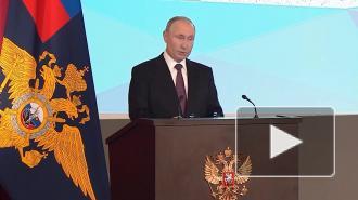 Путин призвал МВД беспощадно бороться спьянством зарулем
