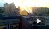 Фонтан кипятка с 10-этажный дом на Просвещения петербуржцы сняли на видео