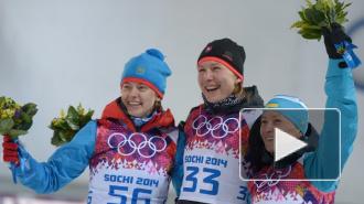 Биатлон. Женский спринт на 7,5 км: Вилухина выиграла «серебро», Шумилова упала и сломала приклад винтовки и палку