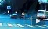 Страшное видео из Самары: легковушка протаранила маршрутку с пассажирами