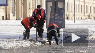 В Петербурге прорвало трубу на углу Маршала Жукова и Петергофского шоссе
