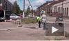 Видео: житель Выборга осуществил инновационный ямочный ремонт в своем дворе