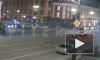 Появился момент ночного ДТП с пострадавшим пешеходом на Невском проспекте