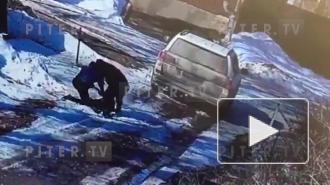 Нападение на предпринимателя в Васкелово попало на видео