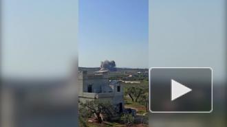 Российские истребители Су-34 уничтожили штаб боевиков в Идлибе