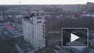 Выборгский дрон-шпион: заброшенный элеватор Выборгского комбикормового завода